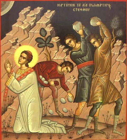Istvan első vértanu megkövezése